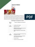Language Development Chart 0-8 Yrs