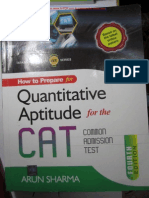 Quantitative Aptitude for CAT Arun Sharma