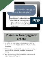 Tidsenliga alternativa verktyg vid läs- och skrivsvårigheter