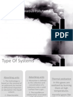 Control of Industrial Gaseous Pollutants