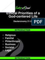Ethical Priorities of a God-Centered Life