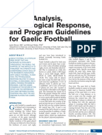 Needs Analysis, Physiological Response, And Program Guidelines for Gaelic Football
