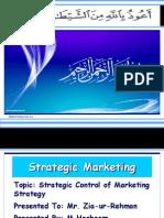 Strategic Control of Marketing Strategy by M Hashaam