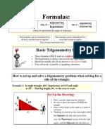 Trigonometry of Right Triangles