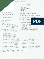Catatan Rumus Kalkulus Untuk UTS KALKULUS