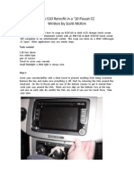 RNS-510 10 VW Passat CC DIY Installation Guide