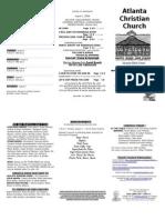 August 3, 2014 Trifold Bulletin