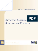 Review of Securities Market Structure and Practices
