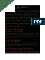 Campaign Techniques