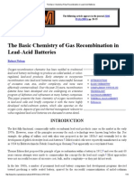 The Basic Chemistry of Gas Recombination in Lead-Acid Batteries