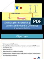2.2 Analysing the Relationship Between Electric Current and Potential Difference