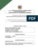 Pré-Projeto - Maria Izabel Gomes Lopes - Pós Eng. de Seg. Do Trabalho