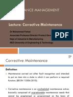 Lecture - Corrective Maintenance