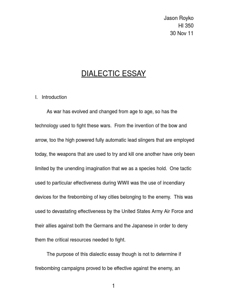 Science Essays Topics Dialectic Essay Military Aviation International Security Personal Essay Thesis Statement also Thesis For Compare Contrast Essay Dialectical Essay  Hepatitze Thesis Statement For Argumentative Essay