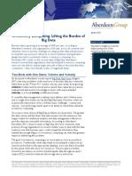 Aberdeen in Memory Analytics for Big Data