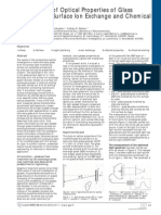 Comparison of O Comparison of Optical Properties of Glassptical Properties of Glass