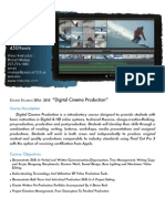 digital cinema syllabus 0 -450 hours