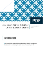 Challenges for the Future of Chinese Economic Growth