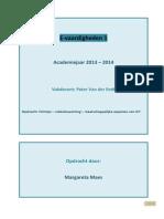 Voorbereidend Document Facebook-Depressie Maes Margareta