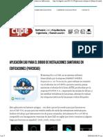Aplicación CAD Para El Dibujo de Instalaciones Sanitarias en Edificaciones (PavcoCAD) _ CivilGeeks