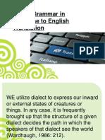 Useful Grammar in Japanese to English Translation