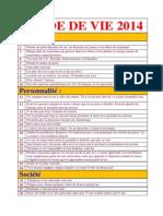 Guide de Vie 2014