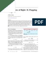 Physics of Flight, Flapping