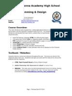web programming syllabus 2014 - 2015