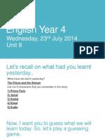 English Year 4-Writing a Message