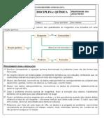 Exercícios Cálculo Estequiométrico 2014