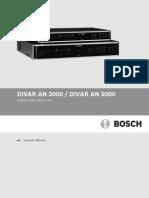 Divar 5000 Series Operation Manual