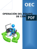 Operación Del Equipo de Computo