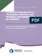 La Investigacion de La Violencia Contra La Mujeres Con Perspectiva de Género