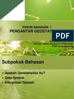 Slide KTG 427 Geostatistika PB1