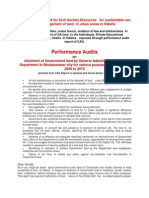 CAG Audit Report on Odisha GA Plot Allottment Scam - 30-Jul-2014