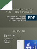 Basic Physical Examination in ENT[1]