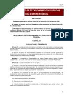 Reglamento de Estacionamientos Publicos Del Df