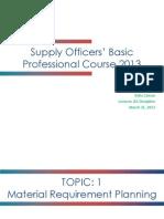 Training on MRP & Forecasting