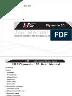 KDS Flymentor 3D User Manual
