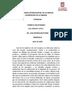 Sobre El Relativismo Una Reflexión Critca Dr José Rodriguez Iturbe