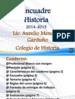 Encuadre Presentación 2014-2015