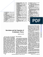 Darwinism and the Expansion of Evolutionary Theory - S J Gould