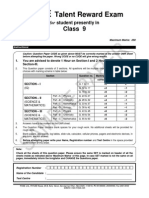 FTRE 2013 Class IX Paper 2