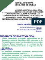 Exposición Proyecto de Grado  MSD UD - Cralos Andres Prada Duran