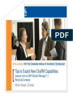 0612 Tips to Exploit New ChaRM Capabilities Lessons From an SAP Solution Manager 71 Ramp-Up Company