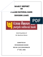 project report on PNB home loan