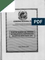 2014 Plan de Trabajo Del Proceso Presupuesto Participativo 2015
