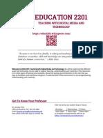 EDUC2201 Syllbus Fall 2014