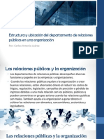 9 Estructura y Ubicación Del Departamento de Relaciones Públicas