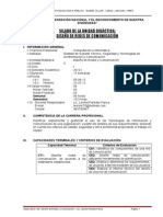 Silabo de Redes y Comunicacion de Datos 2012-i